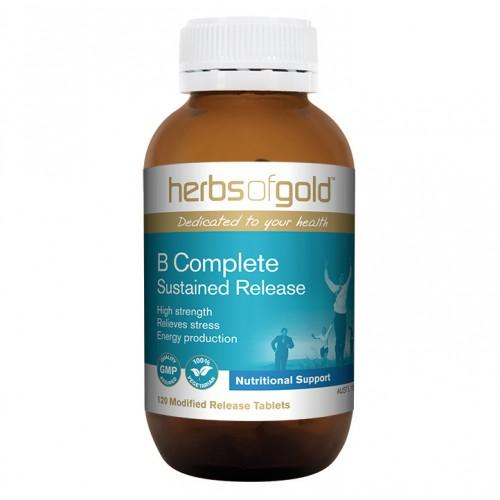Herbs of Gold, B Complete Sustained Release, 120 Tablets