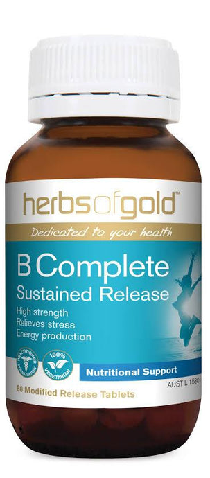 Herbs of Gold, B Complete Sustained Release, 60 Tablets