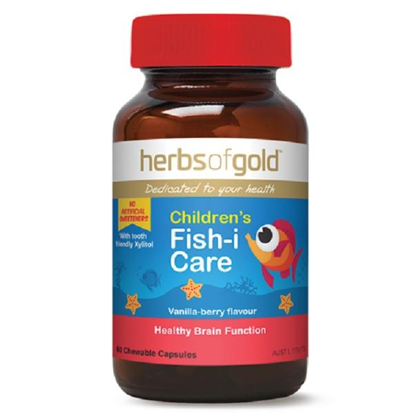Herbs of Gold, Children's Fish-i Care, 60 Capsules
