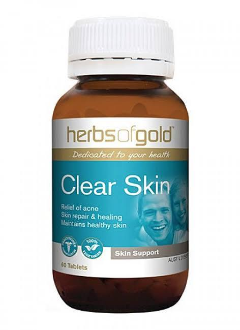 Herbs of Gold, Clear Skin, 60 Tablets