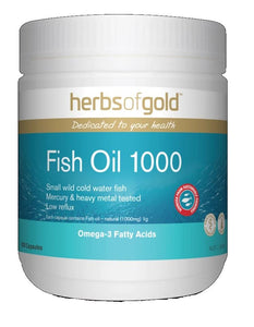 Herbs of Gold, Fish Oil 1000, 200 Capsules