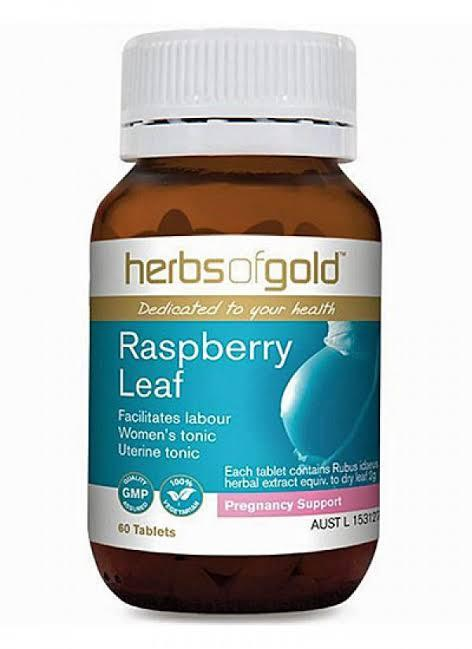 Herbs of Gold, Raspberry Leaf, 60 Tablets