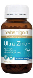 Herbs of Gold, Ultra Zinc+, 60 Veggie Capsules