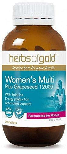 Herbs of Gold, Women's Multi Plus Grape Seed, 90 Tablets