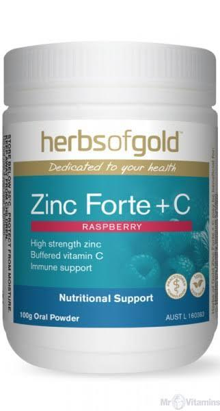 Herbs of Gold, Zinc Forte + C, 100g