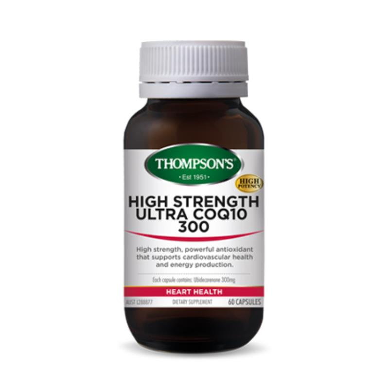 Thompson's High Strength Ultra CoQ10 300mg 60 Capsules