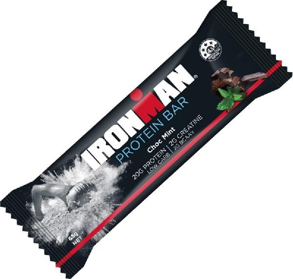 Ironman, Protein Bar Choc Mint, 65g