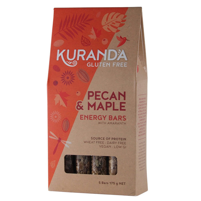 Kuranda, Gluten Free Energy Bars Pecan & Maple, 35g x, 5 Pack
