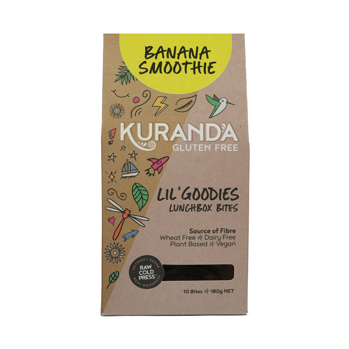 Kuranda, Gluten Free Lil' Goodies Lunchbox Bites Banana Smoothie, 18g x, 10 Pack