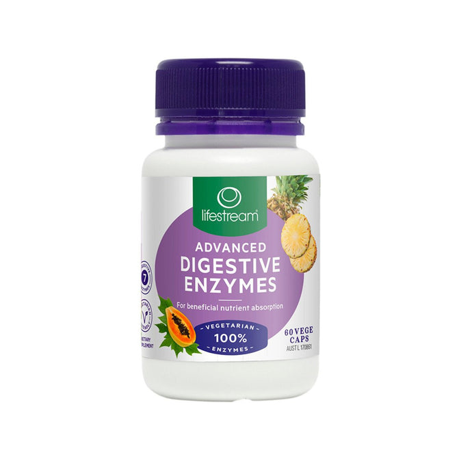 LifeStream, Advanced Digestive Enzymes, 60 Veggie Capsules