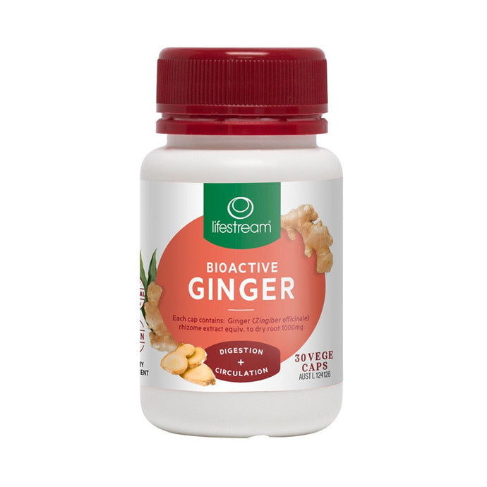 LifeStream, Bioactive Ginger, 30 Veggie Capsules