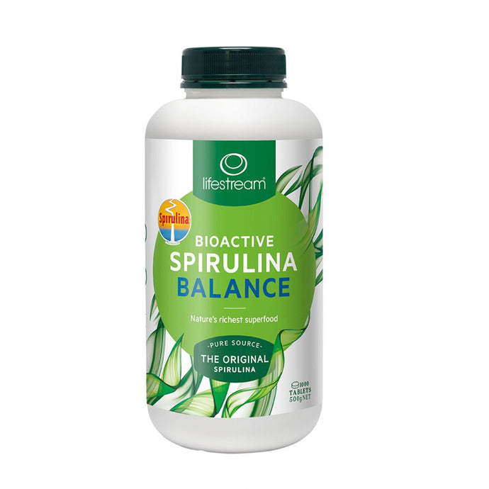 LifeStream, Bioactive Spirulina Balance, 500Mg, 1000 Tablets
