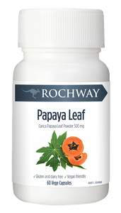 Rochway Organic Papaya/Paw Paw Leaf Extract 60 Capsules