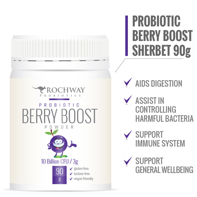 Rochway, Berry Boost Powder 10 Billion cfu per 3g , 90g