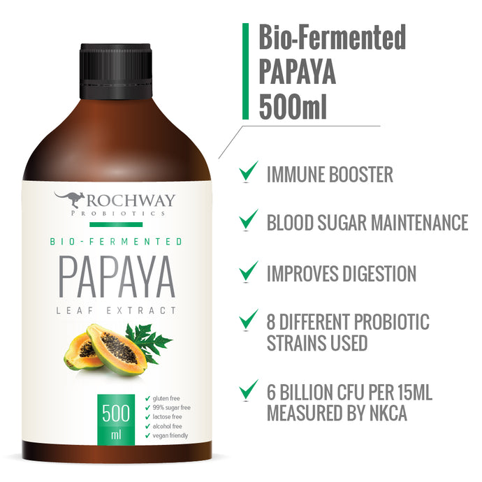Rochway, Bio Fermented Papaya Leaf Extract, 500ml