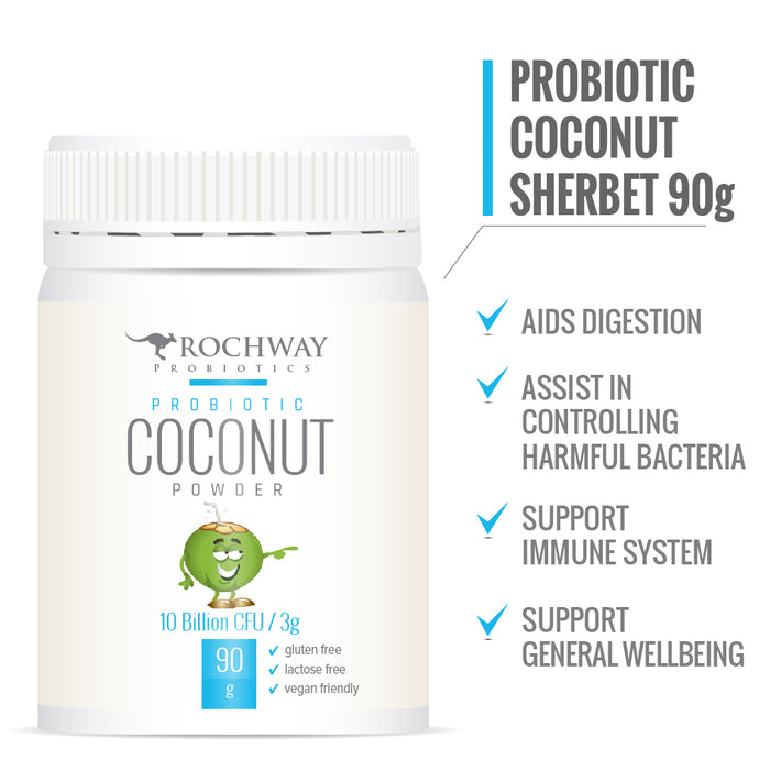 Rochway, Coconut Powder 10 Billion cfu per 3g, 90g