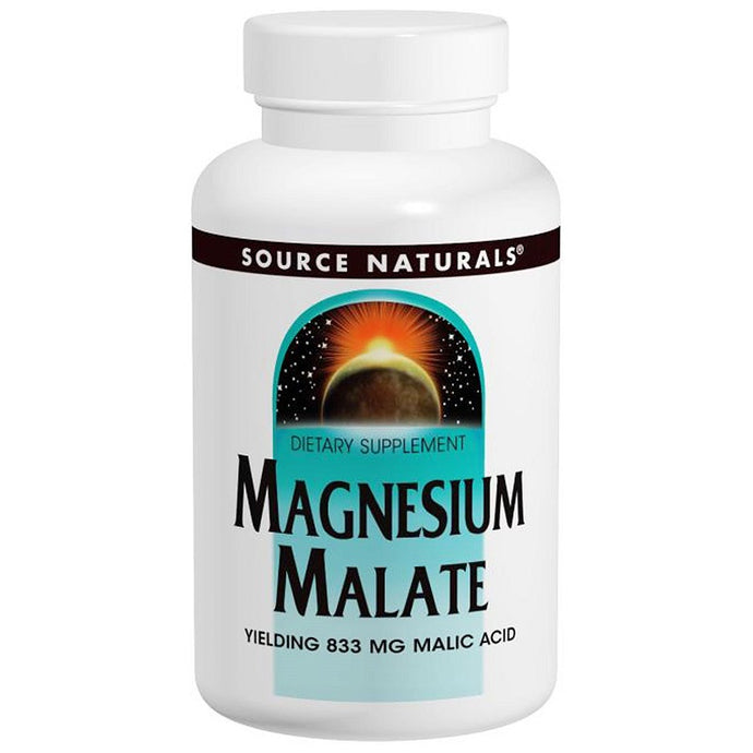 Source Naturals Magnesium Malate 180 Tablets - Dietary Supplement