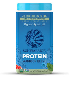 Sunwarrior, Warrior Blend Organic Plant-Based Protein Natural -- 1.65 lbs