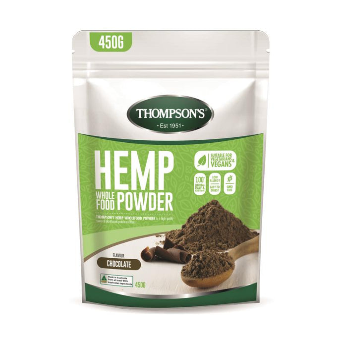 Thompson's Hemp Wholefood Powder 450g - Chocolate