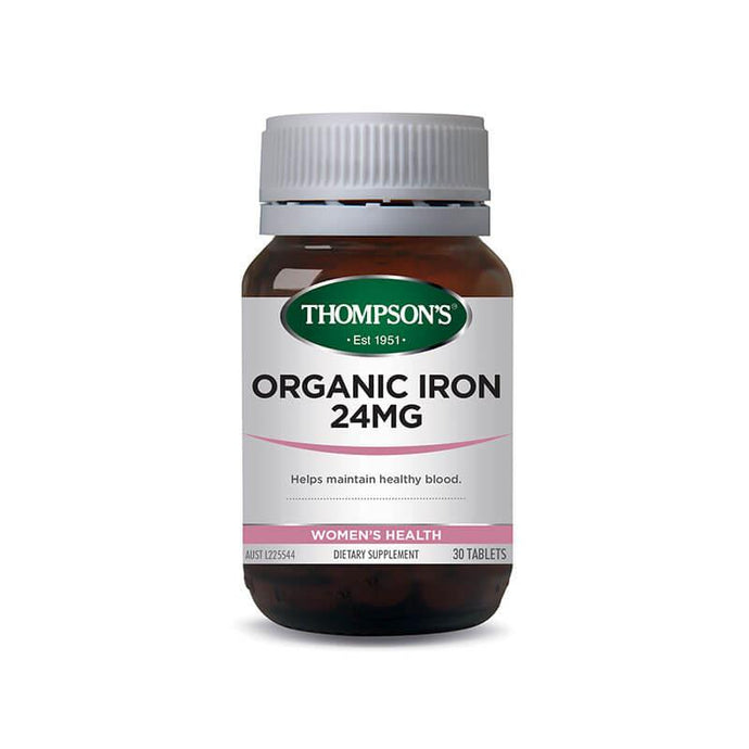 Thompson's Organic Iron 24mg 30 Tablets