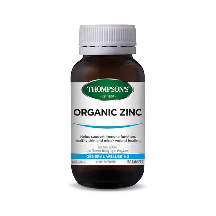 Thompson's Organic Zinc 180 Tablets