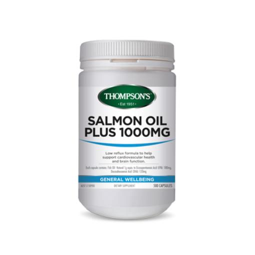 Thompson's Salmon Oil 1000mg 500 Capsules