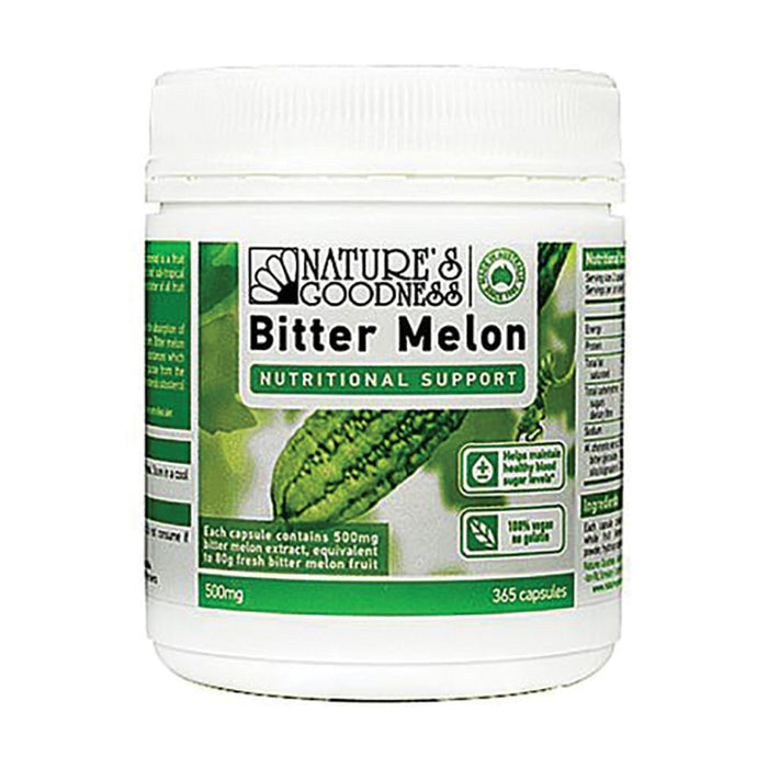 Nature'S Goodness, Bitter Melon, 500Mg, 365 Capsules