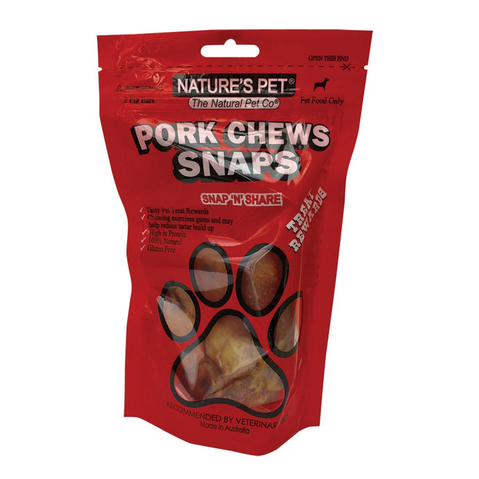Nature'S Pet, Pigs Ears Snaps, 2 Pack