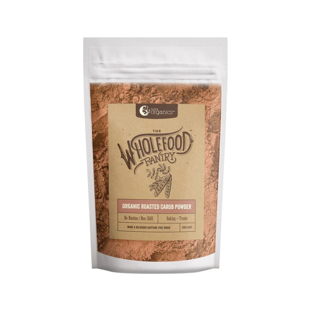 Nutra Organics, The Wholefood Pantry Organic Roasted Carob Powder, 200g