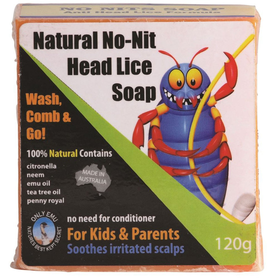 Only Emu, Natural No-Nit Head Lice Soap, 120g