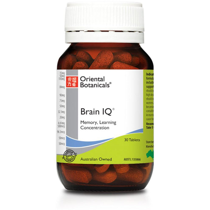Oriental Botanicals, Brain Iq, 30 Tablets
