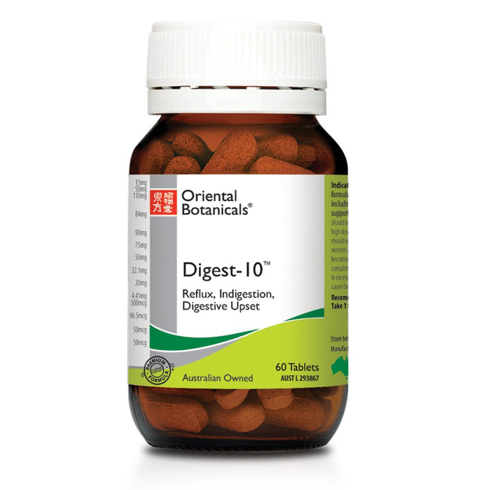 Oriental Botanicals, Digest, 10, 60 Tablets