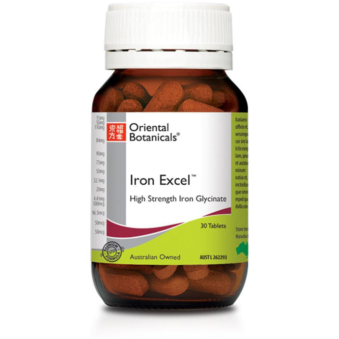 Oriental Botanicals, Iron Excel, 30 Tablets