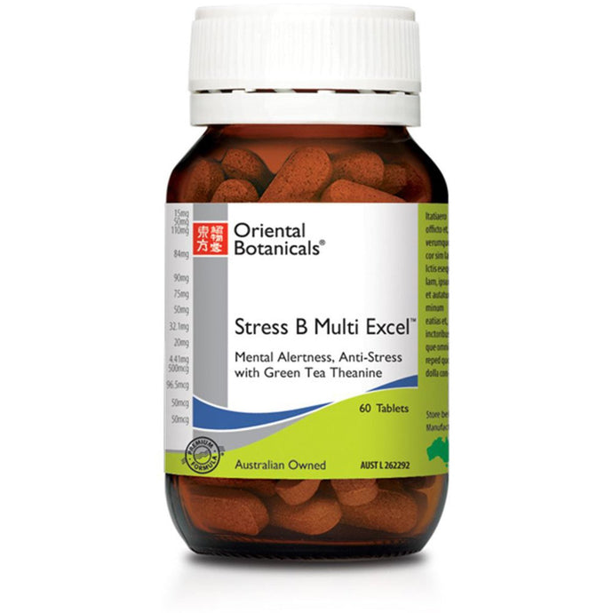 Oriental Botanicals, Stress B Multi Excel, 60 Tablets