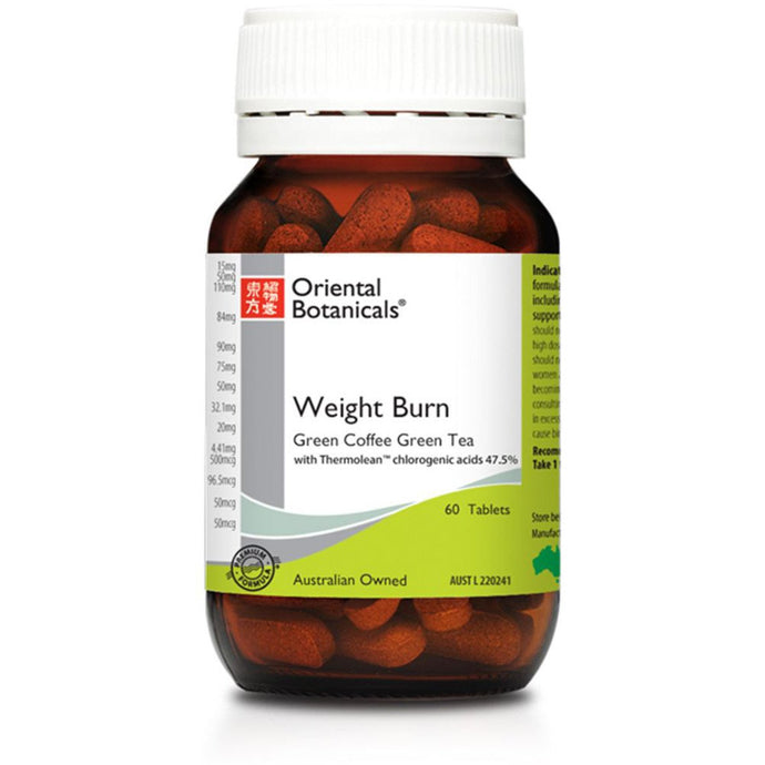 Oriental Botanicals, Weight Burn, 60 Tablets