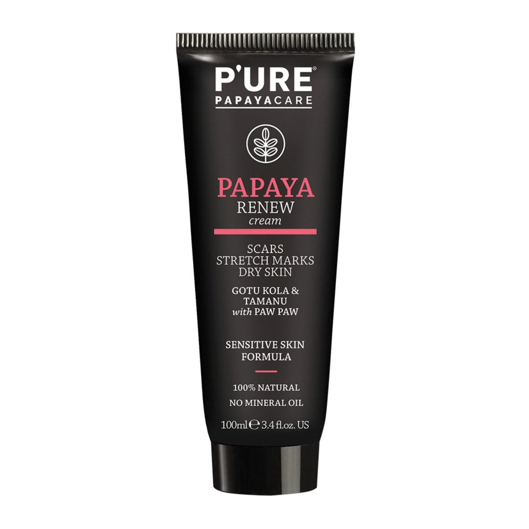 P'Ure, Papayacare Papaya Renew Cream, 100ml