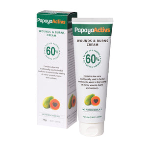 Papaya Activs, Wounds And Burns Cream, 75g