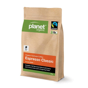 Planet Organic, Coffee Espresso Classic Whole Bean, 250g