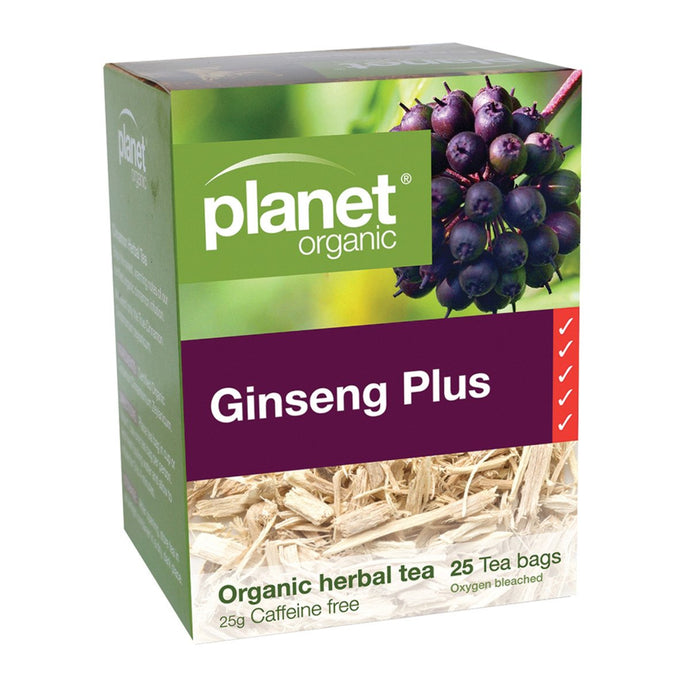 Planet Organic, Ginseng Herbal Tea x 25 Tea Bags