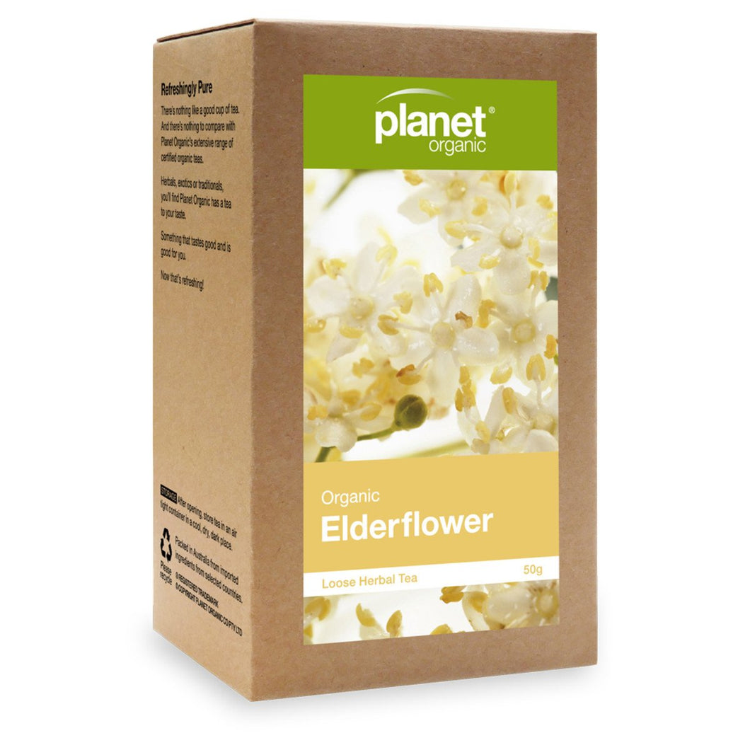 Planet Organic, Organic elderflower Loose Leaf Tea, 50g