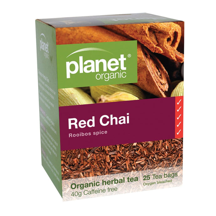 Planet Organic, Red Chai Herbal Tea x 25 Tea Bags