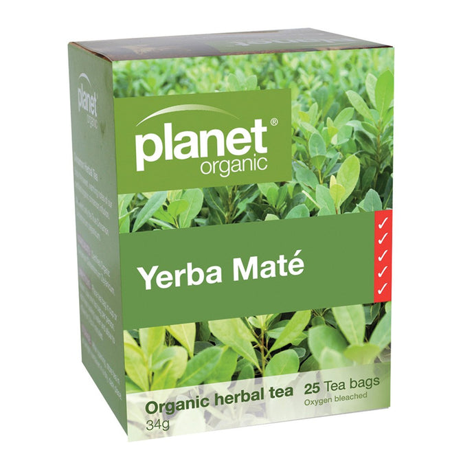 Planet Organic, Yerba Mate Herbal Tea x 25 Tea Bags
