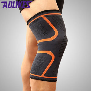 AOLIKES 1Pc Knee Support Knee Pad Brace Kneepad Gym Weight lifting Knee Wraps Bandage Straps Guard Compression Knee Sleeve Brace