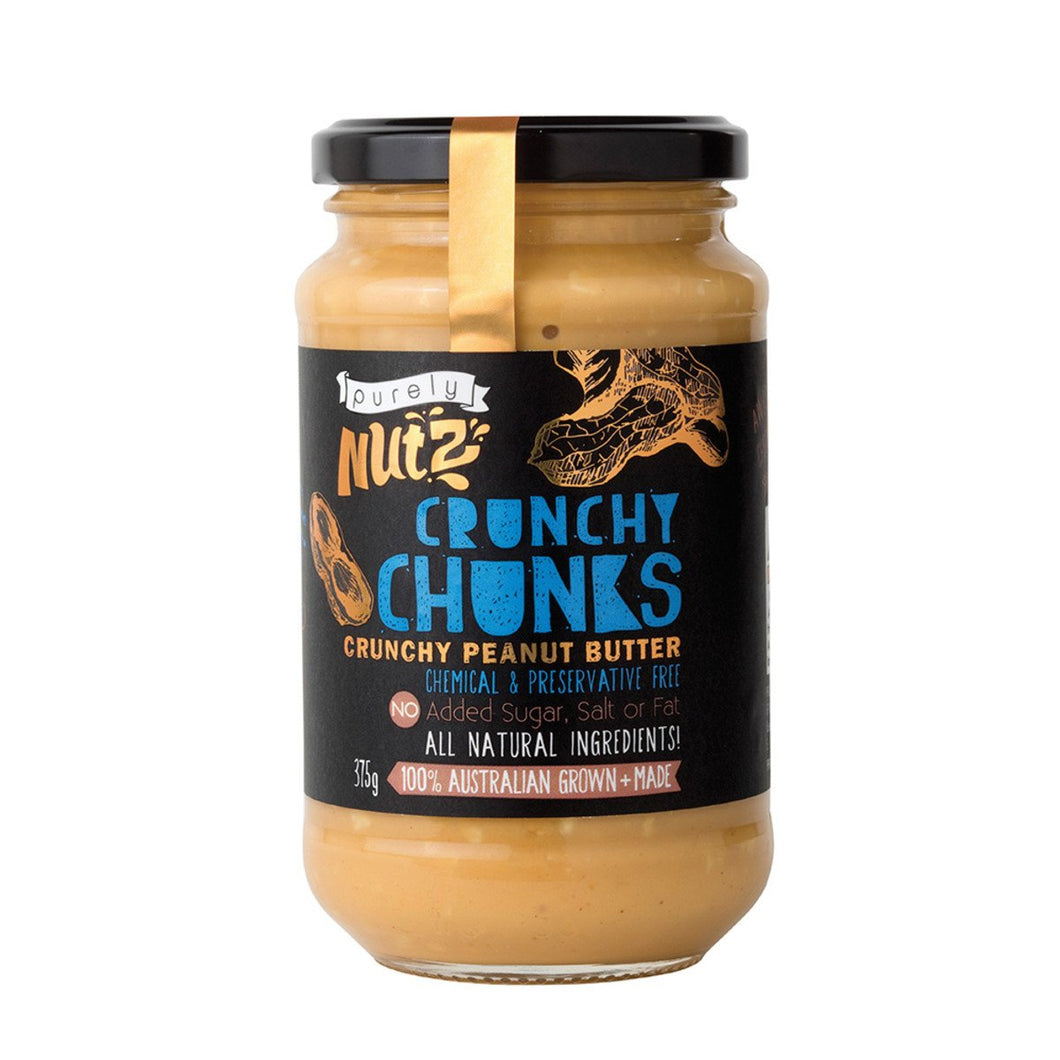 Purely Nutz, Natural Peanut Butter Crunchy, 375g