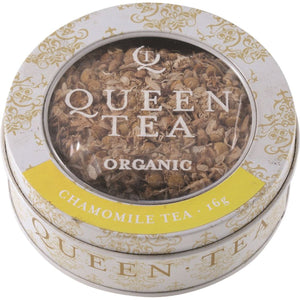Queen Tea, Organic Chamomile Tea Tin, 16g