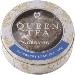 Queen Tea, Organic Raspberry Leaf Tea Tin, 20g