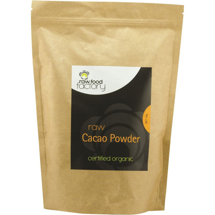 Raw Food Factory, Organic Raw Cacao Powder, 1Kg