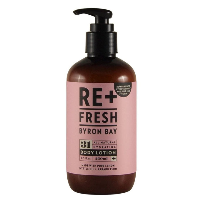 Re+Fresh Byron Bay, All Natural Hydrating Body Lotion (With Lemon Myrtle & Kakadu Plum), 250ml