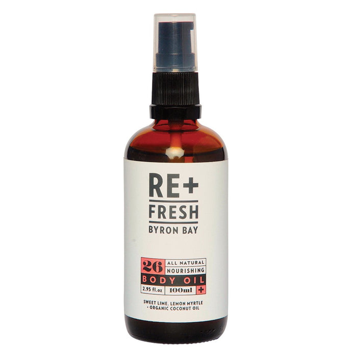 Re+Fresh Byron Bay, All Natural Nourishing Body Oil (Sweet Lime, Lemon Myrtle & Coconut Oil), 100ml