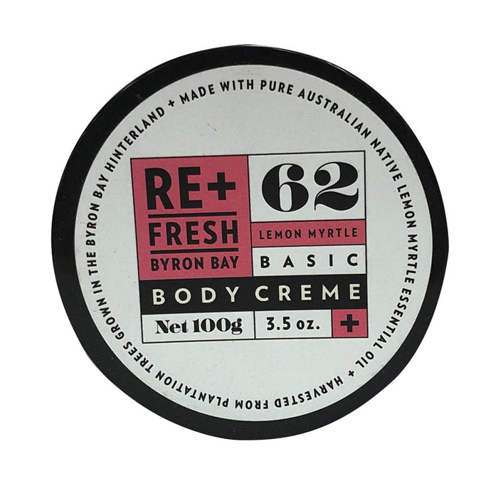 Re+Fresh Byron Bay, Lemon Myrtle Basic Body Creme, 100g